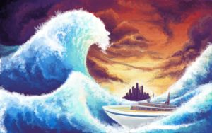 The Great Wave off Castelia by Noktowl