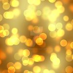 Yellow Dark Gold Bokeh Background by Elle-Arden