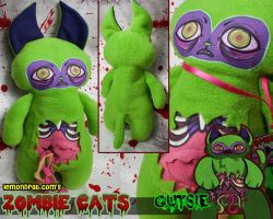 Gutsie Zombie Cat Plushie by lemonbrat