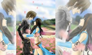 Squall and Rinoa by robertsen
