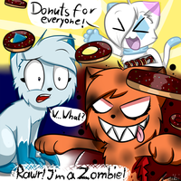Seeing Zombie Cats and Donuts by Leibi97