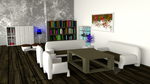 3D Living Room by InspireMari