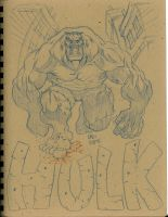 Hulk sketch 2-29-12 by CaziTena