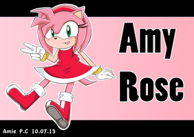 Amy Rose by AmiePC