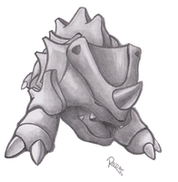 Kanto no. 111 Rhyhorn by Randomous