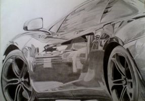 2012 McLaren MP4-12C pencil drawing by xRINAGEx