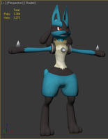 3D Lucario Progress Shot 05 by Chibi-Pika
