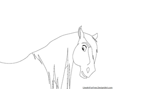 Horse LineArt 1 by LineArtForFree