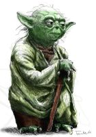 Colored Yoda by la5me
