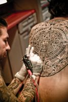 Aztec Calendar Tattoo by Kairy-Ma