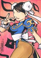Chun Li sketch card by KidNotorious