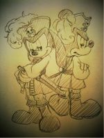 Pirate Oswald and pirate Micke by hat-M84