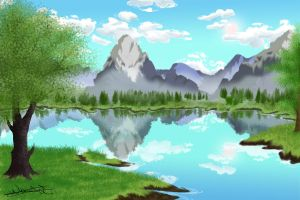 Landscape - Practise by Nafsi-chan