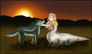 AT - Wolf Link and Zelda by Clopina