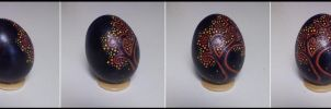 -SpringNight Blossoms- HollowPainted Egg SOLD by TaxiderMegsan