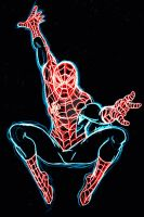 SpiderMAN neon by AlanSchell