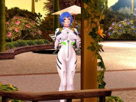 Rei Ayanami sexy beach mod, 3 by tuleon