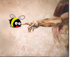 The Bee meets God by Dark-Slifer