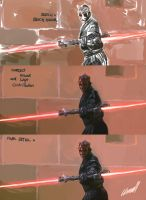 Process of Darth Maul by Mclean-Kun