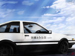 AE86 Initial D - Rage your Dream by KuroNick-Arts