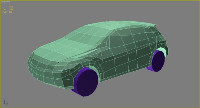 Low Poly Car WIP 01 by AdaptiveMass