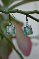 Turquoise and Filigree Earrings by thumbelyna