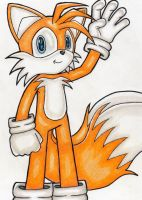 Tails Waving by DragonQuestHero