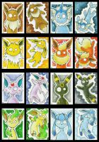 Crazy Eevee Cards by Merinid-DE