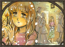 ACEO #135: The Little Match Girl by MTToto