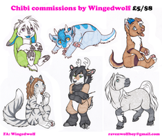 CHIBI COMMISSIONS OPEN by Kitsune--Rin