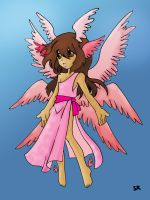 Pink angel by Silent-Arpeggio
