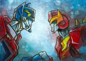 TFA Optimus and Roddy 4 by Aiuke