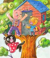 Three little pigs by Gigei