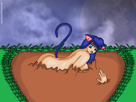 Kitty in quicksand by J-Greene
