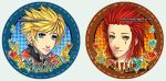 buttons Roxas and Axel by anikakinka