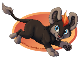Pokemon - Litleo by CliffeArts
