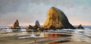 Rocks At Cannon Beach by artistwilder