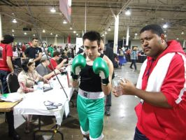 Anime North Cosplays - Little Mac and Coach by Desert-tiger47