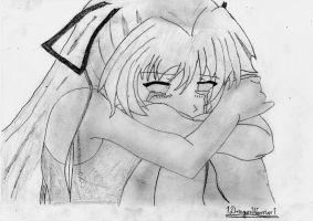 Anime girl in tears by 1DragonWarrior1