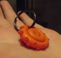 Tentacle keyring by MeticulousBlue