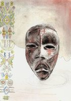 African tribal mask by Tallis