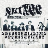 Shine shinee world   Font by StillPhantom