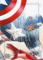 Marvel Universe - Captain America Sketch Art Card by DenaeFrazierStudios