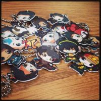 ALL THE KEYCHAINS!!! by Kuro-Mizuo