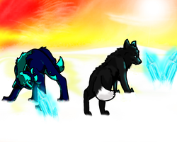 Finished Collab With Wastelandwolf by Yintheicewolf
