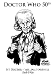 Doctor Who 1st Doctor William Hartnell by SouthParkTaoist