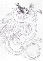 Dragon Sketch by Revie6661