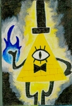 Bill Cipher Mini Canvas by awilli182