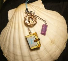 Maya the Siren - handmade Charms + Book Locket II by Ganjamira