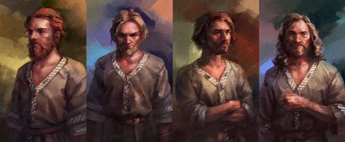 Peasant lads by Skvor